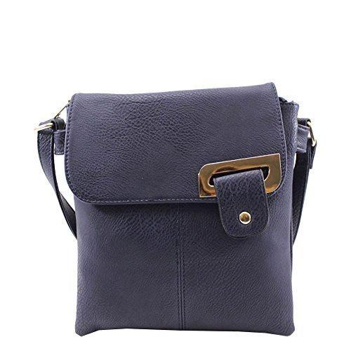 CUIR FEMMES marine Bleu sac 'S haute pour Bleu main Medium SIMILI NEUF à bandoulière DIVA messager marine nqpWXWaY