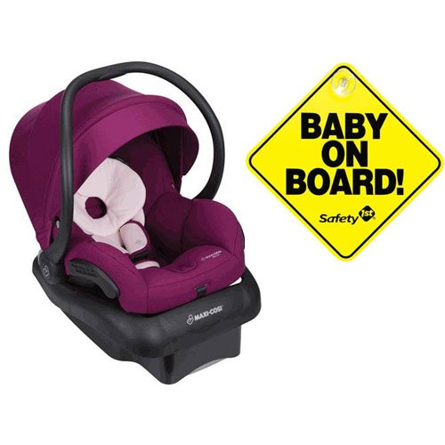 Maxi-Cosi Mico 30 Infant Car Seat – Violet Caspia with Bonus Baby on Board Sign
