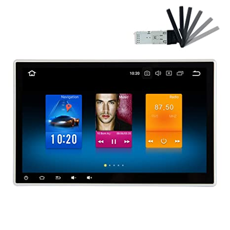 dasaita 10 2'' Android 8 0 Car Stereo Double din Adjustable Screen for Any  Vehicle with 2 din / 1din Slot Headunit Touchscreen Navigation Car Radio