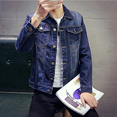 Vaquero de invierno Clásico Azul Hombre Chaqueta Denim Jean Primavera otoño e IqR4wF14n