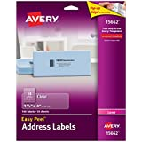 Avery Easy Peel Address Labels for Laser Printers, Clear, 140 Labels (15662)