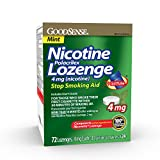 Good Sense Nicotine Polacrilex Lozenge 4mg, Mint Flavor, 72-count, Stop Smoking Aid, GoodSense Smoking Cessation Products