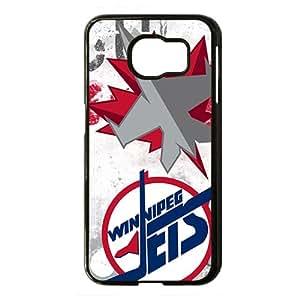 Winnipeg Jets Black Phone Case for Samsung S6