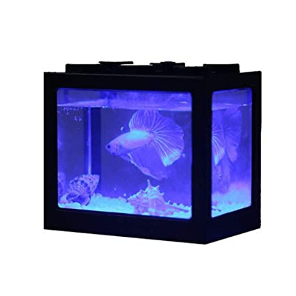 Ecological Aquarium Box Acuario De Sobremesa Mini Pequeño Betta Escritorio De Oficina con Luz LED Farming