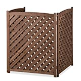 Wood Lattice Air Conditioner Screen (Brown)