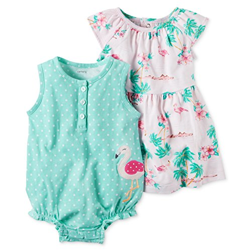 Carter's Baby Girls' 2-Piece Dotted Romper And Dress Set 24 Months