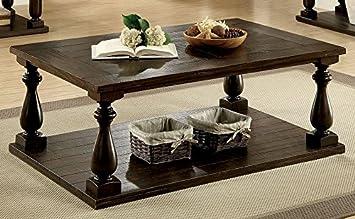 Furniture Of America CM4420C Luan Dark Walnut Coffee Table