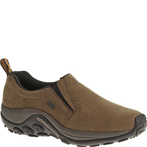 Merrell Men's Jungle Moc Nubuck Waterproof Slip-On Shoe,Brown,9.5 M US J52927