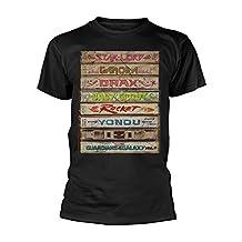 Guardians Of The Galaxy Men's Vol 2 Cassette Stack T-Shirt Black