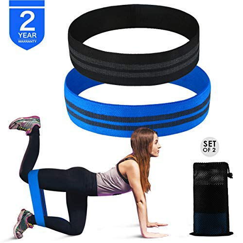 Body Up Training Resistance Bands Loop Exercise Bands for Legs and Butt,Set of 2 Booty Bands Workout Bands Hip Bands Non Slip Thick Fabric for Men and Women Fit Gym Activate Glutes and Thigh