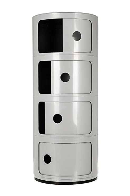 Mobile Componibile Da Ufficio.Componibili Contenitore A 3 Ripiani Rotondi Per Ufficio Bagno