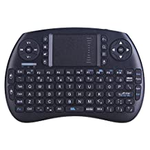 2.4GHz Multi-media Portable Wireless Mini Handheld Keyboard Fly Air Mouse Remote Control Combo with Touchpad Mouse for PC, PAD, PS3, Google Android TV Box, HTPC, IPTV