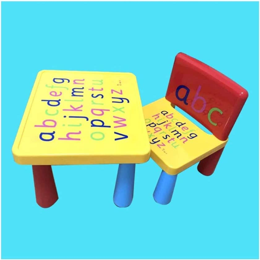 XIAOTAIN Kids Table Chair Set with Table Alphabet Learn /& Play, 1PCS Chairs