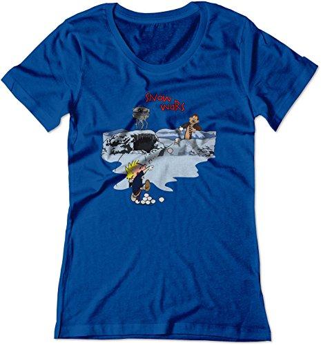 BSW Women's Calvin and Hobbes Snow Wars Star Wars Shirt 2XL Royal Blue ()
