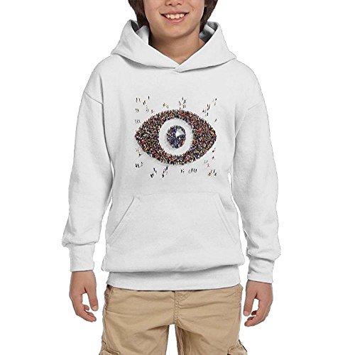 cheap Quliuwuda Teen Girls Many People Form An Eye Shape Leisure Travel Ash Sweater supplies
