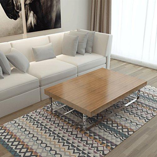 LOFAMI Alfombra Nórdica Moderna, Alfombras de Terciopelo de Cristal, Verano para Dormitorio Multi-funcional Alfombra de Sala...