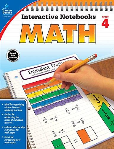 Carson Dellosa Math Interactive Notebook, Grade 4 (Interactive Notebooks) from Carson-Dellosa