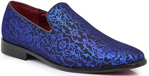 991aadc0f ARK1 Men s Vintage Satin Silky Floral Fashion Dress Loafer Slip On Tuxedo  Formal Dress Shoes Designer