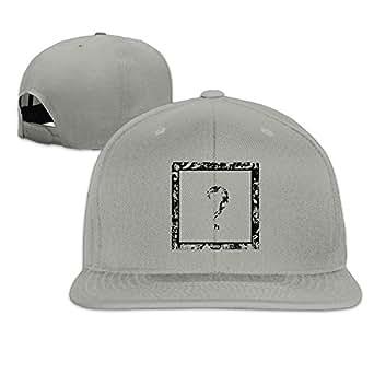582cf8fb23a Image Unavailable. Image not available for. Color  Women Men r n Lovely  Flat Brim Snapback Plain Cotton Baseball Caps Hat Ash