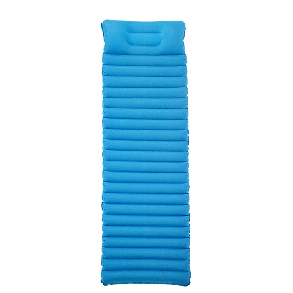 Im Freien Automatische Aufblasbare Einzelne Schlafenauflage-leichtes Tragbares Bergsteigen-Feuchtigkeits-Auflage-Isolierungs-Auflagen-kampierendes Zelt-aufblasbare Matratze,Blau