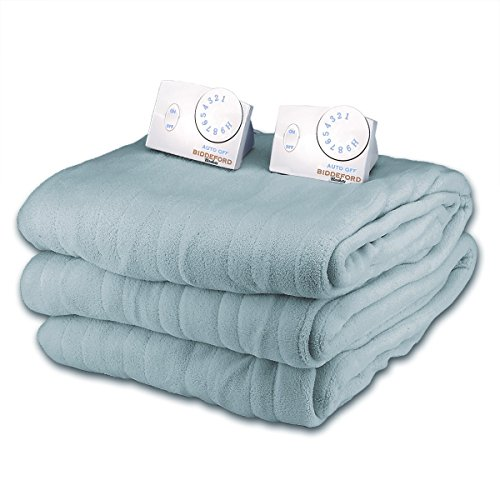 Great Deal! Soft Microplush Queen Size Electric Heated Blanket by Biddeford (Azure)