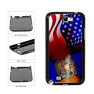 Armenia and USA Mixed Flag Plastic Phone Case Back Cover Samsung Galaxy Note II 2 N7100