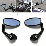 BLACK MOTORCYCLE 7/8? HANDLE BAR END REAR MIRRORS FOR DUCATI MONSTER SPORT BIKES