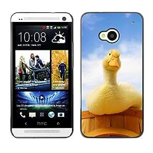 EJOY---Cubierta de la caja de protección la piel dura para el / HTC One M7 / --Pato curioso