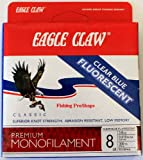 Eagle Claw 8 lb. Fluorescent Fishing Line - Clear Blue 300 Yds.
