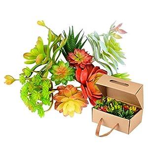 Fake Succulent Plants - 10 PC Artificial Succulent Plants, Faux Succulents Fake Succulents Plants Unpotted, Artificial Mini Succulent Plants, Artificial Succulents Floral Stems,Faux Succulent 39