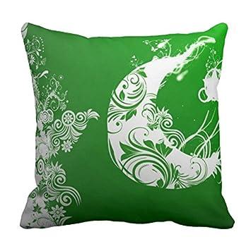 Pakistan Flagge Art Kopfkissen Custom Kissenbezug 40 6 X 40 6 Cm