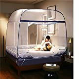 HEXbaby Portable Pop Up Mosquito Net for Bed Travel Fording with Bottom for Adult Bed, Canopy Trip Insect Fly Screen,Bedroom Mosquito Netting,200180165cm