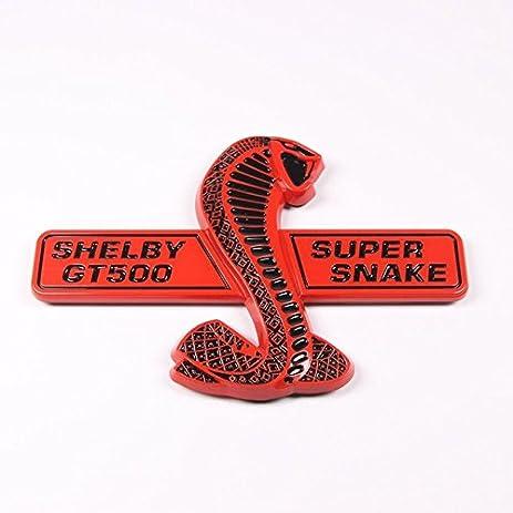 Cobra shelby gt500 super snake emblem sticker for ford