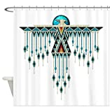 CafePress Southwest Native Style Thunderbird Decorative Fabric Shower Curtain (69''x70'')