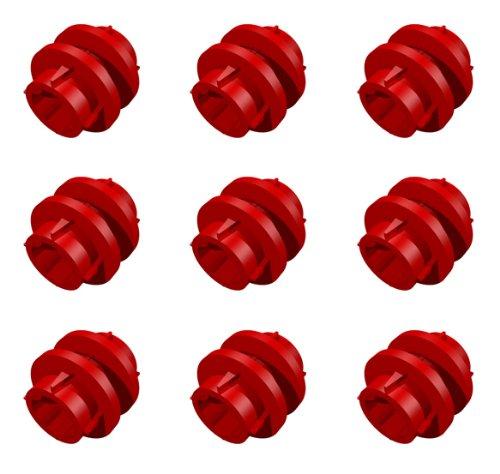 Anillo de conducción de transmisión roja LEGO Technic Mindstorm NXT Parte 6539 (Cantidad 9)