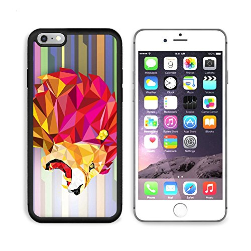 Liili Premium Apple iPhone 6 Plus iPhone 6S Plus Aluminum Backplate Bumper Snap Case iPhone6 Plus IMAGE ID: 38737166 Low polygon Llion geometric pattern on abstract background Vector illustration200