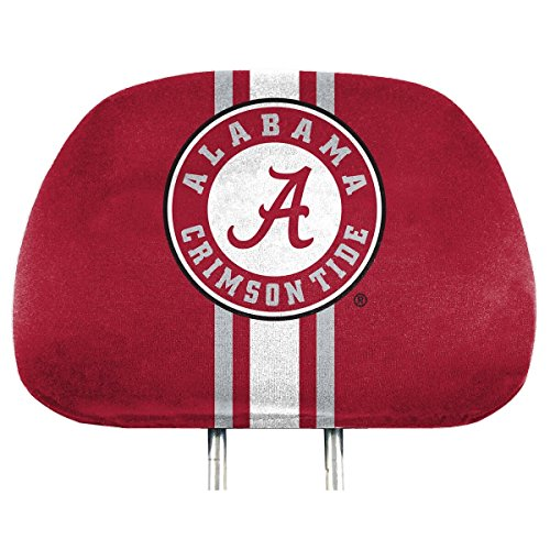 NCAA Alabama Crimson Tide Full-Print Head Rest Covers, 2-Pack