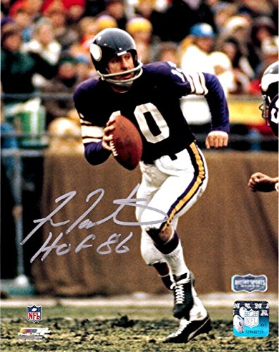 Fran Tarkenton Autographed/Signed Minnesota Vikings 8x10 NFL Photo