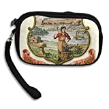 Nebraska State Coat Of Arms Deluxe Printing Small Purse Portable Receiving Bag