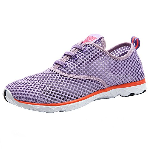 ALEADER Women's Quick Drying Aqua Water Shoes Purple 6.5 D(M) US