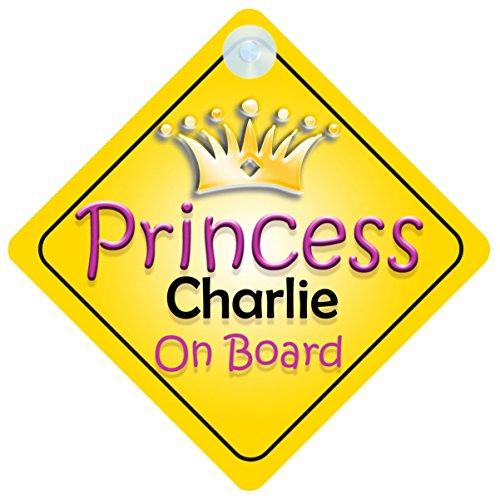 Princesse Charlie on Board Panneau Voiture Fille/Enfant Cadeau Bébé/Cadeau 002