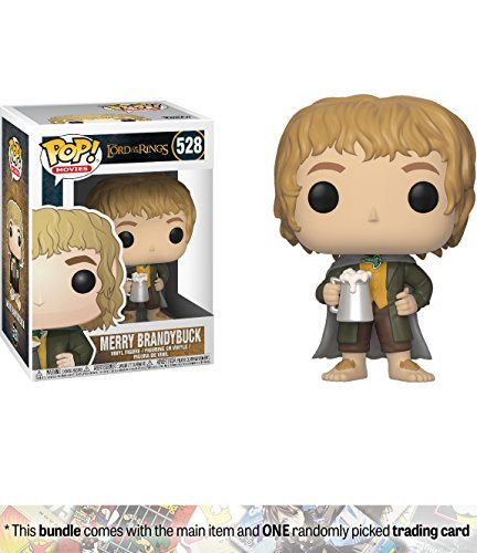 Merry Brandybuck: Funko POP! Movies x Lord of the Rings Vinyl Figure + 1 Official Hobbit/LOTR Trading Card Bundle [#528]