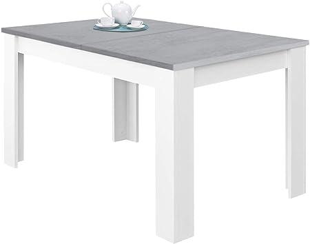 La mesa de comedor extensible Kendra es una práctica mesa extensible para el comedor con dos posicio
