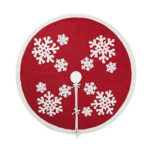 Vickerman 505731 - 60'' Felt Flakes Collection Tree Skirt (QTX17351) Christmas Tree Skirts by Vickerman