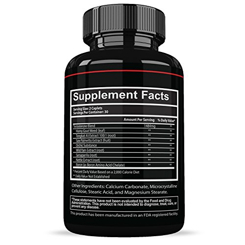Prime-Labs-Mens-Testosterone-Booster-60-Caplets-Natural-Stamina-Endurance-and-Strength-Booster-Fortifies-Metabolism-Promotes-Healthy-Weight-Loss-and-Fat-Burning