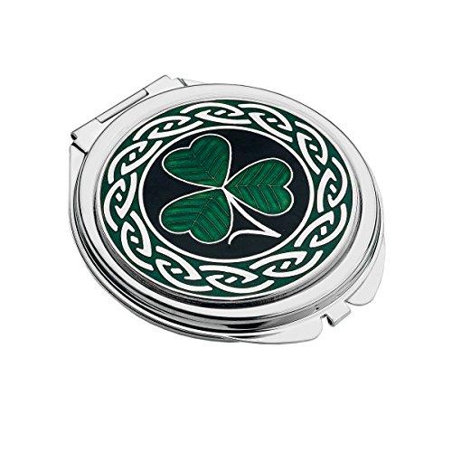 Handmade Celtic Shamrock Compact Mirror