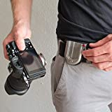 TacDraw Camera Belt Metal Holster: Waist Clip Holder for Pro DSLR Mirrorless Point & Shoot/Quick Release Plate / (Canon, Nikon, Sony, Olympus, Fuji)