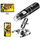 STPCTOU Wireless Digital Microscope 50X-1000X 1080P Handheld Portable Mini WiFi USB Microscope Camera with 8 LED Lights for i