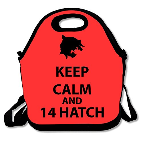 Price comparison product image Personalized Keep Calm And 14 Hatch Fashion Lunch Tote Box Bags Black 29×19× 14.5cm,One Size