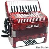 Excalibur Super Classic Accordion - 48 Bass - Red